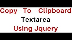 textarea text how to copy to clipboard using jquery