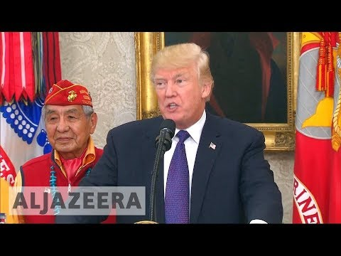 Trump uses 'Pocahontas' slur at Native American veterans' event