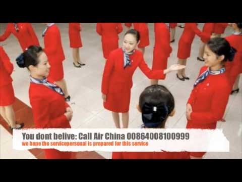 "Air China Service Hotline: ""Press 1 for the service operator. Press 2 for sex."""