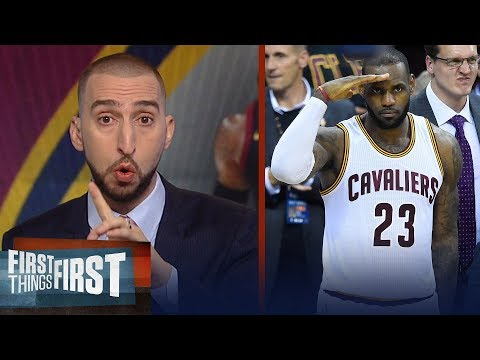 Nick Wright on Cavs over Boston, LeBron's legacy after passing Kareem | NBA | FIRST THINGS FIRST