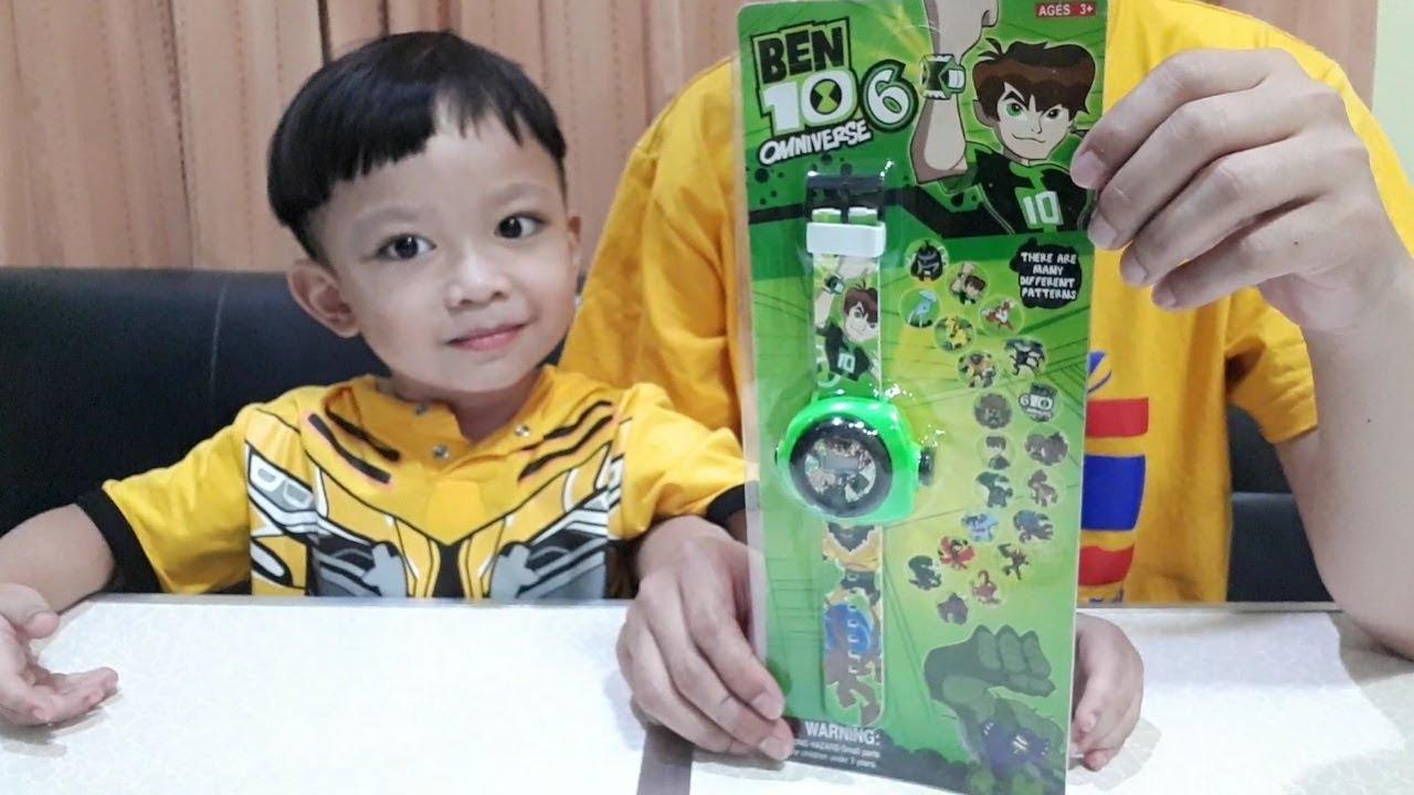 น้องก๊อตจิ รีวิวของเล่น นาฬิกาแปลงร่างเบนเทนฉายภาพได้ BEN10 Toys