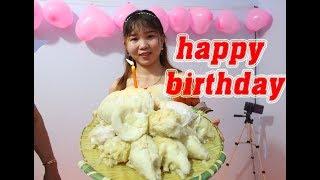 Làm bánh kem sầu riêng khổng lồ mừng sinh nhật bé Na -Hồ TG Vlog