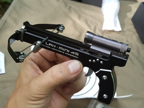 Mini Tactical Crossbow! Assembly And First Look Of The LAH Mini 4S With Laser Sight