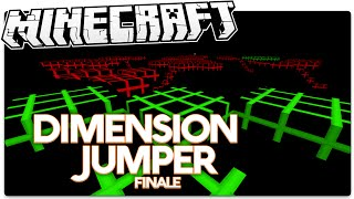 Minecraft | Tron World Hopping | DIMENSION JUMPER Finale (Minecraft Custom Map)