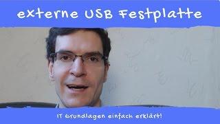 Was ist eine externe USB Festplatte und wie funktioniert sie.