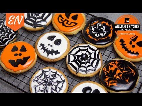 Halloween Decorated Cookies Recipe || William's Kitchen