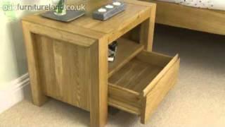 Pablo Solid Oak Bedside Unit From Oak Furniture Land