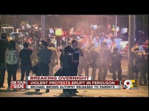 Violent protests erupt in Ferguson