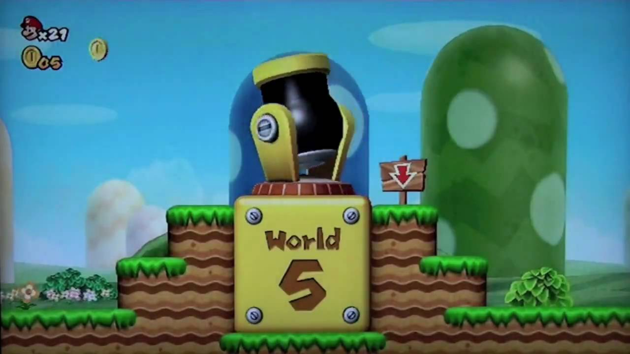 Warp Cannons The New Super Mario Bros Wii Youtube