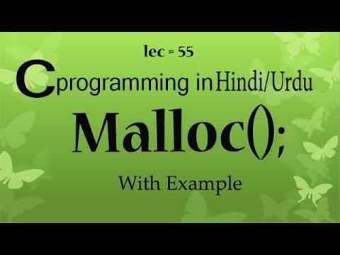 Malloc function in c programming tutorials
