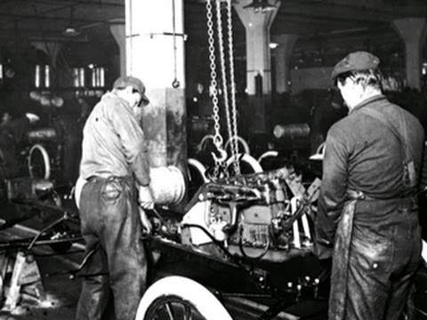 Henry Ford S Assembly Line Turns 100 Youtube