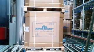 видео: Автоматический склад: формирование двойных паллет