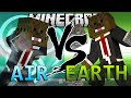 Minecraft Avatar Air Mod vs Avatar Earth Mod (Mod Battles)