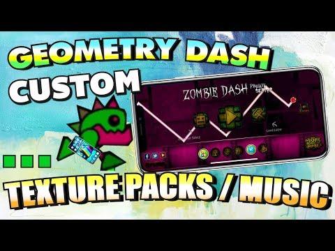 Get CUSTOM Geometry Dash Texture Packs / Music (NO JAILBREAK) IPhone, IPad, And IPod Touch - 2019