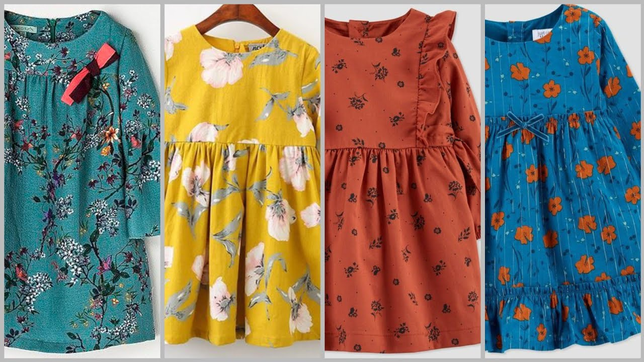 Top 55 (2021) Beautiful Winter Baby Frock designs/Full Sleeves Frock Designs