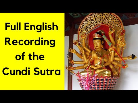 Sutra of the Great Cundi Dharani