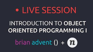 Live Stream: Introduction to Object Oriented Programming with Swift Part 1