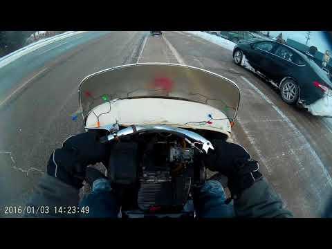 2nd Mackinac Bridge vintage snowmobile ride 2017
