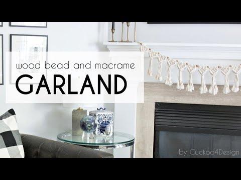 easy DIY macrame garland