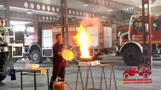 Incendio de Aceite en cocina extincion por sofocacion