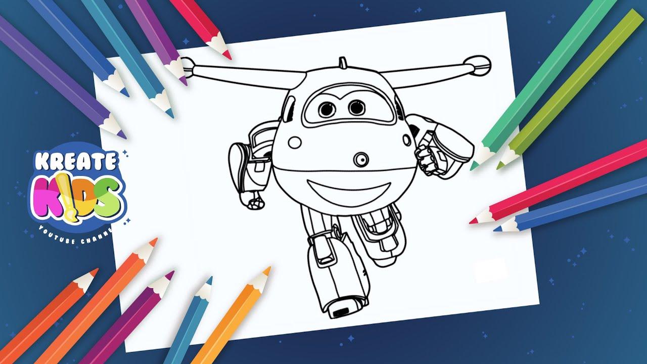 Super Wings Jett Disegni Da Colorare Coloring Book Youtube