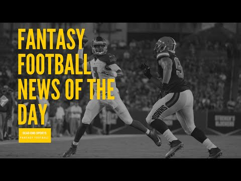 Fantasy Football News of the Day 8-29