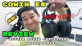 Cowin E8 Bluetooth Active Noise Cancelling Headphones Review.