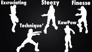 'NEW' LEAKED EMOTES/DANCES - Fortnite Battle Royale (Steezy, Excruciating, Finesse et plus!)