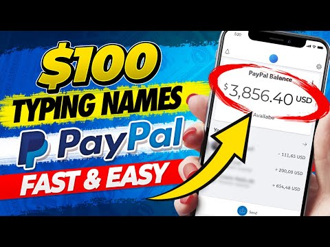 🔥 Earn $100+ Typing Names - Fast and Easy Paypal Money! (No Experience Needed!)