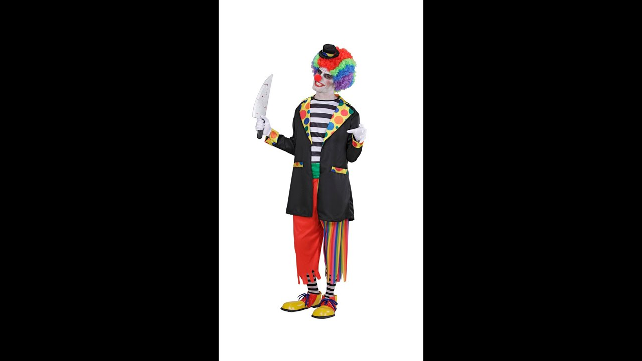 9793 Quot Evil Clown Quot Jacket Shirt Pants Socks Mini Hat