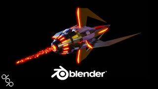 Blender 2.8 Tutorial - Sci Fi Space Ship Animation - Part 1