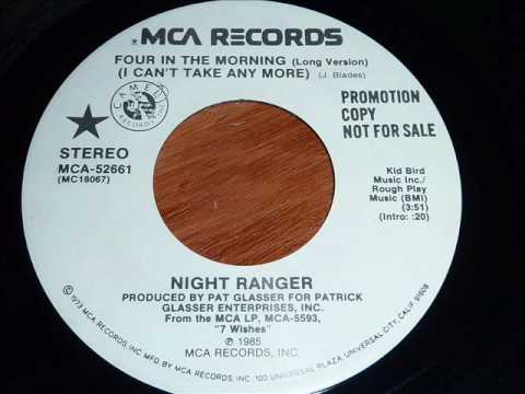 Night Ranger - Four In The Morning (I Can't Take Any More) 45rpm mp3