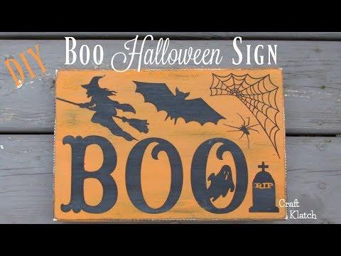 DIY Boo Halloween Sign Craft | Halloween Crafts | Craft Klatch
