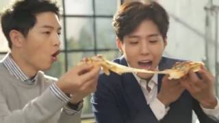 Song Joong Ki & Park Bo Gum Cute Behind the Scene for Dominos Pizza CF thumbnail