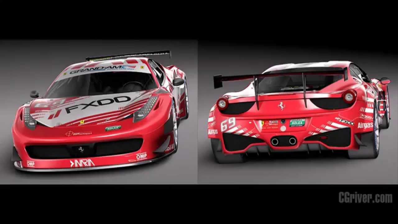 3d model ferrari 458 gt3 race car 2014. Black Bedroom Furniture Sets. Home Design Ideas