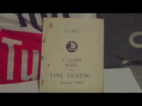 BRITISH ARMY 5 CORPS SECRET NOTES ON TANK FIGHTING,JANUARY 1942