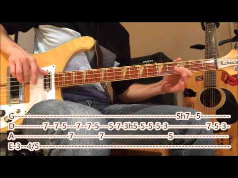 Led Zeppelin - Moby Dick (bass cover with tabs)