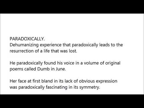 Paradoxically Word In Sentence With Pronunciation Youtube