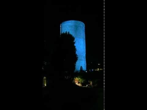 Beautiful video art on Maiden Tower Baku