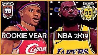NBA 2K superstars ratings in their rookie years