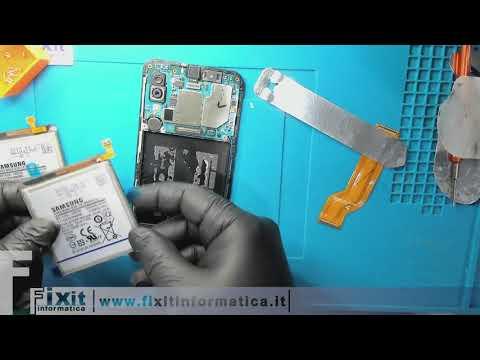 Samsung Galaxy A40 sostituzione batteria. Battery replacement