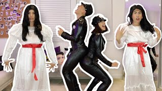 TRYING ON COSTUMES WITH LOUIE!!! *HILARIOUS*