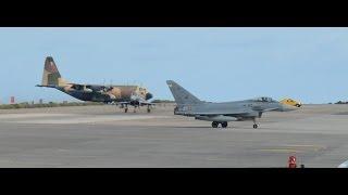 Sorprendente despegue de dos cazas Eurofighter