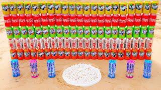 Different Mentos vs Coca Cola and Different Fanta Underground