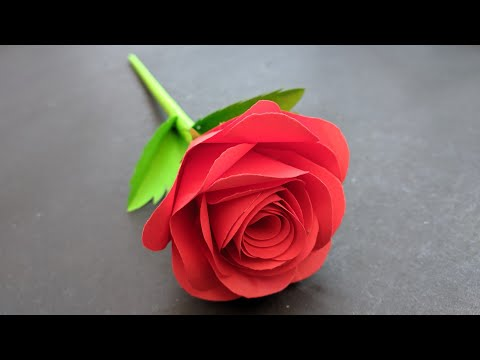 DIY - Rose Flower From Paper ? How To Make | Paper Rose | Paper Flower