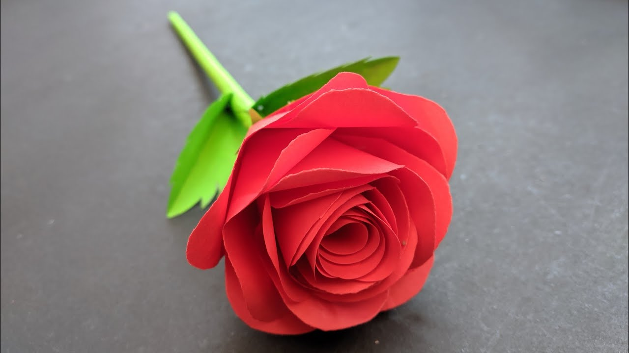 Diy Rose Flower From Paper How To Make Paper Rose Paper Flower Youtube