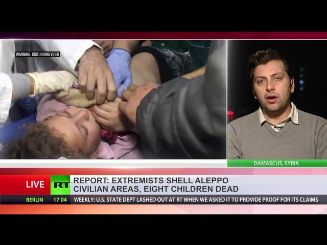 Up to 8 children killed in militant shelling of western Aleppo civilian area