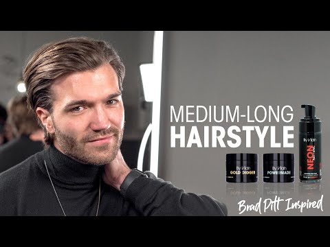 medium-long-hairstyle-for-men-2020---brad-pitt-inspired