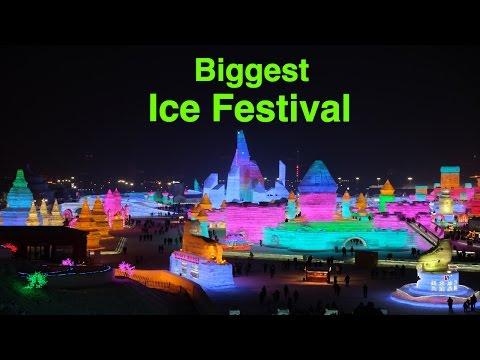 El festival de gel més gran del món està a Harbin, Xina. Aquest és el 33è any que l'organitzen.