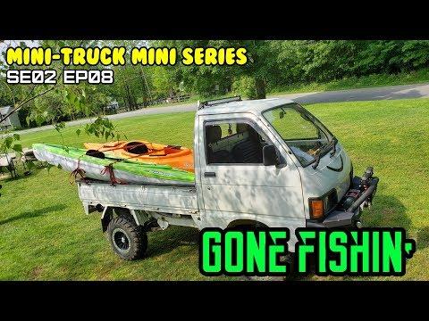 "Mini-Truck (SE02 EP08) ""Gone fishing"", Fishing kayaking on Housatonic river. Perch Bass Sonnys"